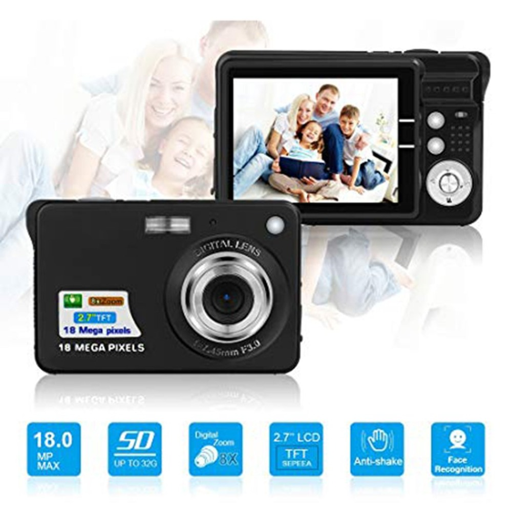 Hd Digital Kamera kinder Kamera Video Kamera Digitale Studenten Kameras Geburtstag Beste Geschenk 2,7 Zoll Ultra-dünne 18 <font><b>MP</b></font> <font><b>16</b></font> - 50mm image