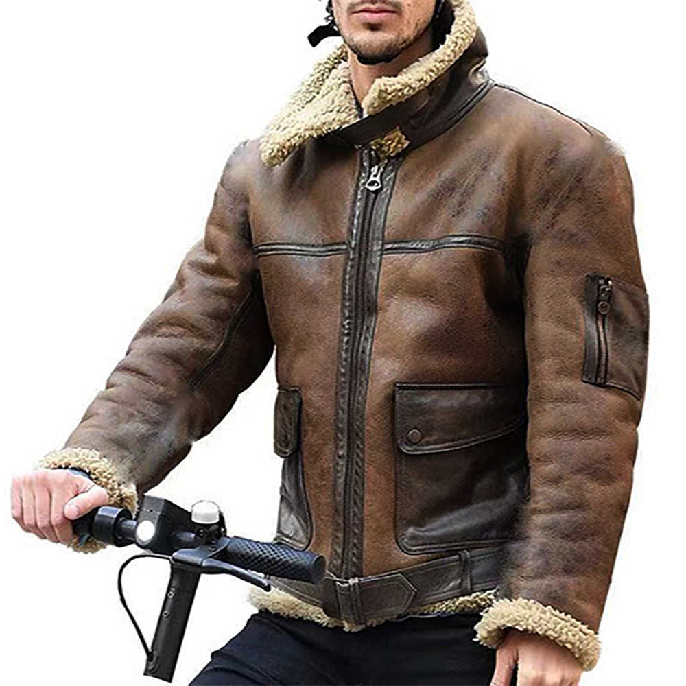 Autumn Winter British Style Men's Wool Coat New Design Men's Street Personality Coat Fur Personality Jacket HX1111