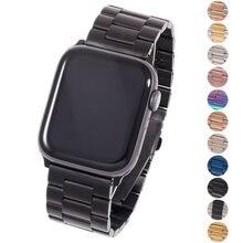 Ремешок из нержавеющей стали для apple watch 6 5 4 3 2 44 мм