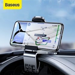 Baseus Car Phone Holder 360 Degree GPS Navigation Dashboard Phone Holder Stand in Car for Universal Phone Clip Mount Bracket