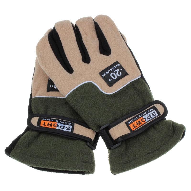 Windproof Men Thermal Winter Motorcycle Ski Snowboard Gloves Male Anti-Slip Winter Warm Cotton Driving Gloves Rekawiczki Zimowe