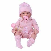 NPK 22 дюймов 55 см мягкие силиконовые новорожденные дети Возрожденные куклы-Младенцы куклы реалистичные настоящие Bebe куклы для детей день рождения Рождественский подарок