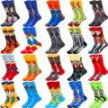 Модные мужские носки из чесаного хлопка в стиле хип-хоп, модные Веселые носки в стиле Харадзюку с изображением клоуна, скейтборда, картины м...