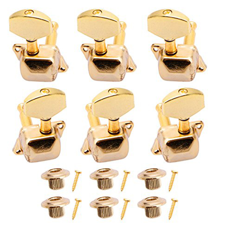 Acoustic Guitars String Semi-closed Ball Vortex Tuner Key Mechanism 3L3R New