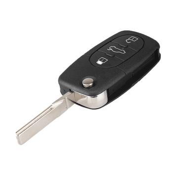 KEYYOU 3 botones plegable Flip coche remoto llave Shell & Espada HAA...
