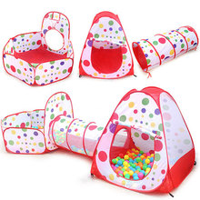 3Pcs/Set Children's Tent Toy Ball Pool Pool Ball Pit Children Tipi Tents Baby Tents House With Crawling Tunnel Ocean Kids Tent недорго, оригинальная цена