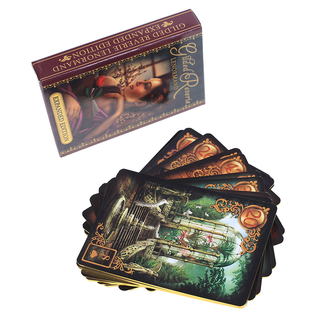 47 Pcs Oracle Tarot Cards Glided Reverie Lenormand expanded edition Board Deck Games Palying Cards For Party Game 3