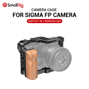 SmallRig FP Camera Cage for SIGMA fp Camera With Cold Shoe Mount & Arri Locating Holes Fr Flash Light Microphone DIY Option 2518 smallrig aluminum arri locating side handle with cold shoe mount for universal camera cage with arri locating hole 2426