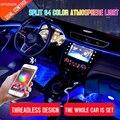 Led Auto Innen Umgebungs Atmosphäre Stimmung Licht Rgb App Fernbedienung Hintergrundbeleuchtung Auto Fuß Center Konsole Tür Dekorative Leuchten