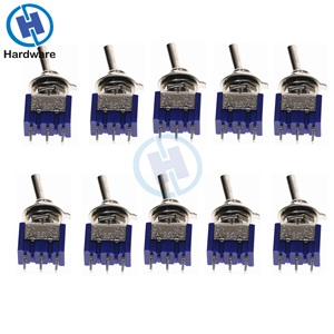 10PC/5PC Miniature Toggle Switch Single Pole Double Throw SPDT (MTS102) ON-ON 120VAC 6A 1/4 Inch Mounting MTS-102