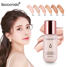 30ml Smooth Foundation Makeup 6 Colors Liquid Matte Moisturizer Face Base High Coverage Brighten Concealer Cream 6 colors available liquid foundation concealer liquid cylindrical glass bottle concealer isolated base foundation