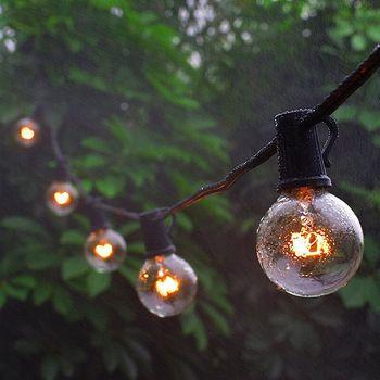G40, 7,5 M, 25 bombillas, guirnaldas de luces para exterior, jardín, Patio, exterior, luz de hadas, fiesta, festón decorativo de Navidad, lámpara