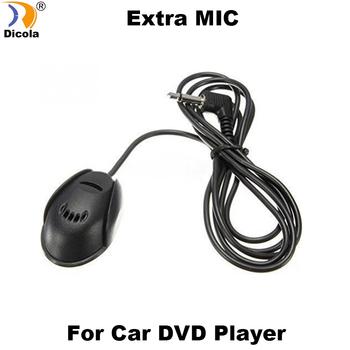 Profesjonaliści 3 5mm zewnętrzny mikrofon Mic na samochodowy odtwarzacz dvd radioodtwarzacz stereo tanie i dobre opinie Dicola Extra MIC