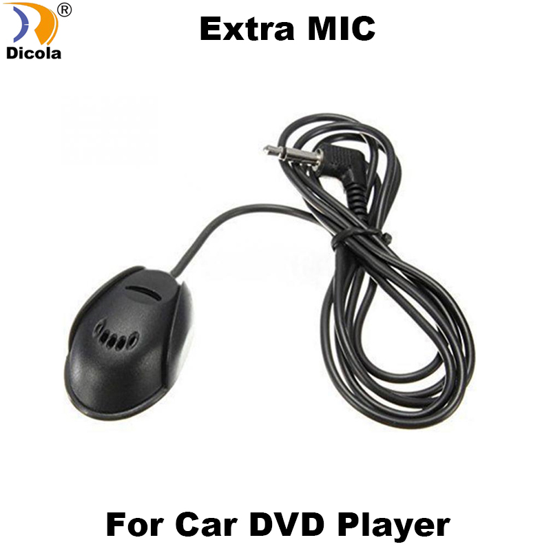 Professionals 3.5mm External Microphone Mic For Car DVD Stereo Radio Player HeadUnits