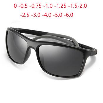 TR90 silikonowe nogi sportowe kolorowe okulary na krótkowzroczność mężczyźni okulary z polaryzacją krótkowzroczne okulary recepta 0 -0 5 -0 75 To -6 tanie i dobre opinie GSBJXZ CN (pochodzenie) Z poliwęglanu Goggle Dla osób dorosłych Z plastiku i tytanu polaryzacyjne Przeciwodblaskowe UV400