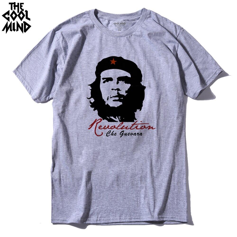 COOLMIND CH0111A Short Sleeve Cotton Che Guevara Revolution Printed Men T-shirt Casual O-neck Men's T-shirt Female Tee Shirt