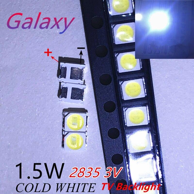 50 шт. для Светодиодный Подсветка 1,5 Вт 3В 1210 3528 2835 131LM холодный белый ЖК-дисплей Подсветка для ТВ Применение серебра меди и JHSP