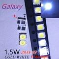 Для светодиодный Подсветка 1,5 Вт 3В 1210 3528 2835 131LM холодный белый ЖК-дисплей Подсветка для ТВ Применение серебра меди и JHSP 500 шт