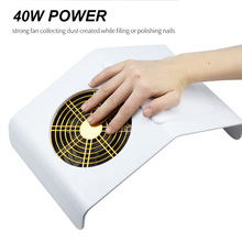 Aspirateur de poussière pour ongles, aspirateur Pro, 40W, équipement de Nail Art avec 2 sacs de collecte de poussière, outils de Salon de manucure