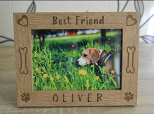 Personalized Dog Picture Frame Photo Frame, Custom Pet Memorial Wood Picture Frame, Dog Mom Dog Dad Gift