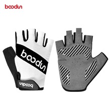 цена на Men Women Summer Cycling Gloves Half Finger Road Mountain Bike MTB Gloves Breathable Shockproof Palm Padded Bicycle Racing Glove