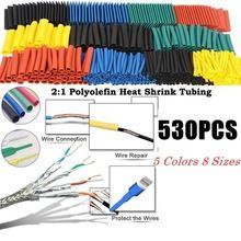 Комплект термоусадочных трубок 530 шт/компл изоляционные трубки