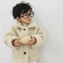Dziecięce kurtki z owczej wełny dla chłopców 2019 nowe zimowe ubrania dla dzieci chłopcy i dziewczęta kurtki okazjonalne dla dzieci z długim rękawem znosić ciepłe kurtki tanie tanio PDOOL CN (pochodzenie) COTTON Stałe REGULAR O-neck Unisex Pełna Moda Pasuje prawda na wymiar weź swój normalny rozmiar