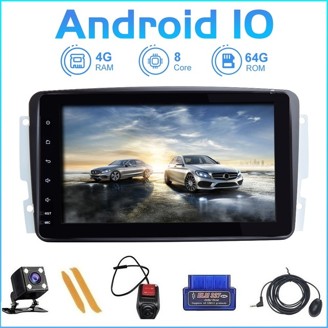 ZLTOOPAI Acht Core Auto Multimedia Player 2 Din Auto Radio GPS Android 10 Für Mercedes Benz CLK W209 Vito W639 Viano canbus IPS