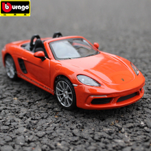 цена на Bburago 1:24 Porsche 718 Roadster simulation alloy car model simulation car decoration collection gift toy