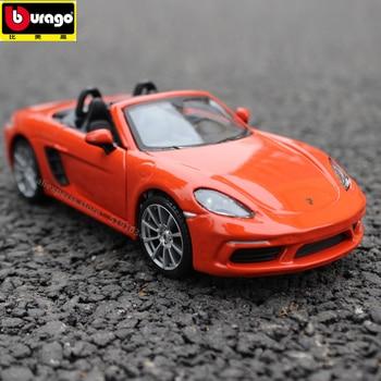 Bburago 1:24 Porsche 718 Roadster simulation alloy car model simulation car decoration collection gift toy цена 2017