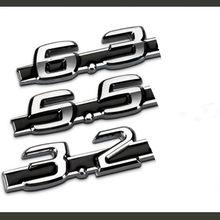 Etiqueta do carro de metal 5.5 6.3 3.2 6.5 deslocamento logotipo do carro c63 modificado para mercedes-benz amg logotipo do carro fender etiqueta do carro vermelho preto
