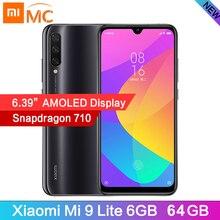 """在庫シャオ mi mi 9 Lite Snapdragon710 オクタコアグローバルバージョン 6 ギガバイト 64 ギガバイトの携帯電話 6.39"""" AMOLED 48MP カメラ 4030 mah バッテリ"""