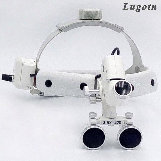 Lente dingrandimento chirurgica a luce led ad alta intensità 3.5 con lente dingrandimento medica