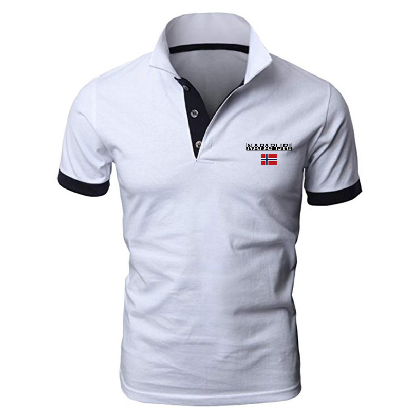 2021 new men's Polo shirt, summer sports lightweight breathable stretch short-sleeved T-shirt