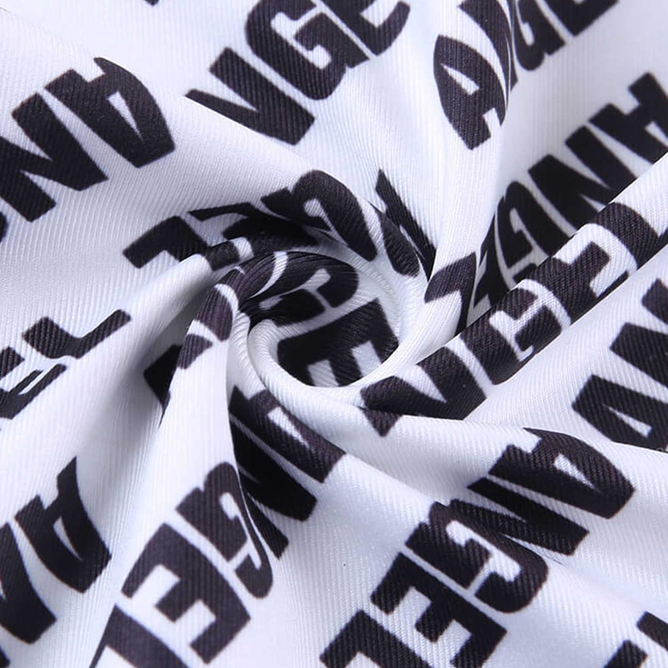 Aelfric Streetwear Harajuku Camiseta de cuello de tortuga 2020 verano Sexy Casual Camiseta de manga larga Tees de moda de algodón blanco carta de impresión