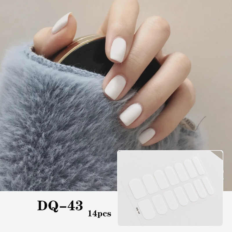 Diy Stijl Volledige Cover Nail Stickers Wraps Valse Nail Tips Nail Strips Nail Sticker Decal Faux Ongles Korea Japan Nail