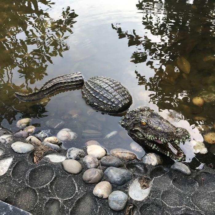3 шт./компл. искусственный высокое качество плавающая смолы крокодилов для пруд для садовых прудов украшения MK