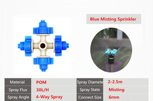 Image 5 - Fast Shipping 20PCS 4 Nozzles Fogger Misting Sprinkler With White Antileak Greenhouse Micro Irrigation Drip Watering Fittings
