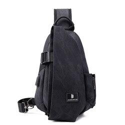 Сумка на плечо с USB-зарядкой для мужчин, мессенджер, износостойкая нагрудная сумочка-слинг, дорожный мужской саквояж на ремне для улицы