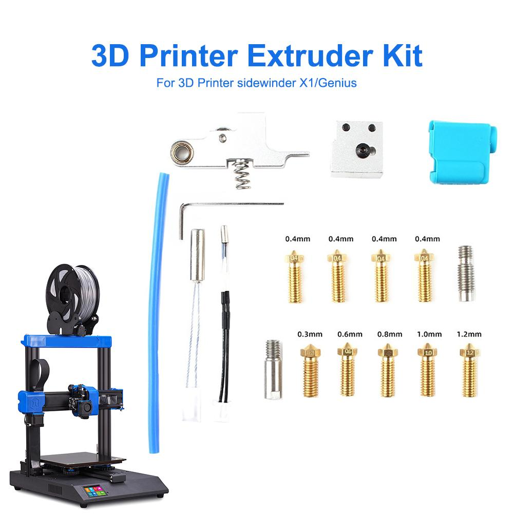 3D Printer Parts for Genius Nozzle Silicone Sleeve Thermal Resistor Heating Pipe for Artillery 3D Printer Sidewinder X1