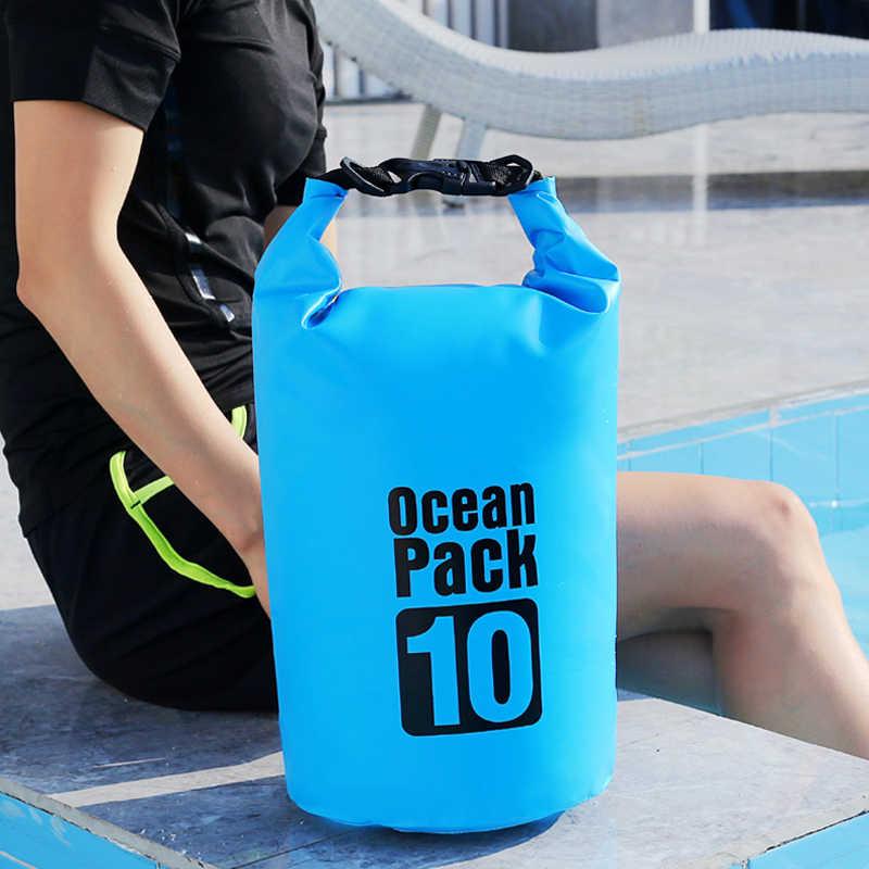 10L PVC Waterproof Dry Bag Sack Ocean Pack Floating Boating Kayaking Camping