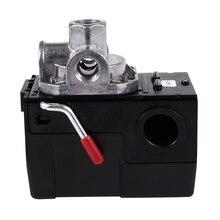 5-8 кг., 4 дюйма-Порты и разъёмы 26 Amp Давление переключатель Управление клапан воздушный компрессор для тяжелых условий эксплуатации Черный Автоматический Давление Управление;