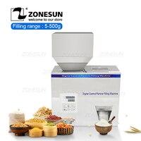 ZONESUN 5 500g Food Racking Machine Granular Powder Materials Weighing Packing Machine Filling Machine For Seeds Coffee Bean