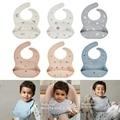 Регулируемый Фартук для младенцев, Детский водонепроницаемый силиконовый нагрудник для кормления мальчиков и девочек, слюнявчик 45BF