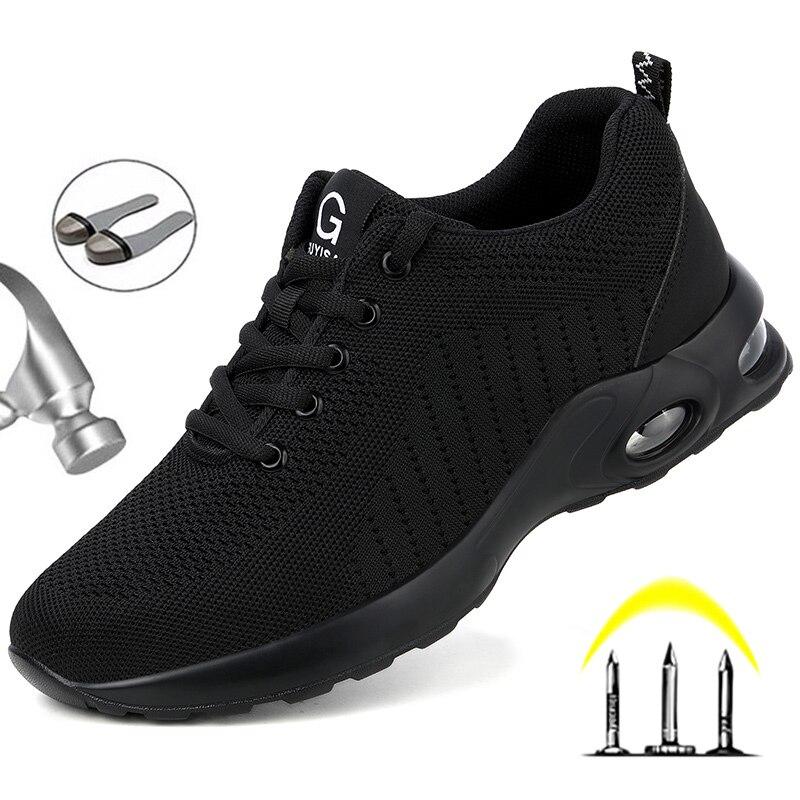 Mode Sicherheit Schuhe Männer Stahl Kappe Schuhe Anti-punktion Arbeit Turnschuhe Unzerstörbar Arbeit Die Sicherheits Stiefel Männlichen Schuhe Arbeiten Stiefel