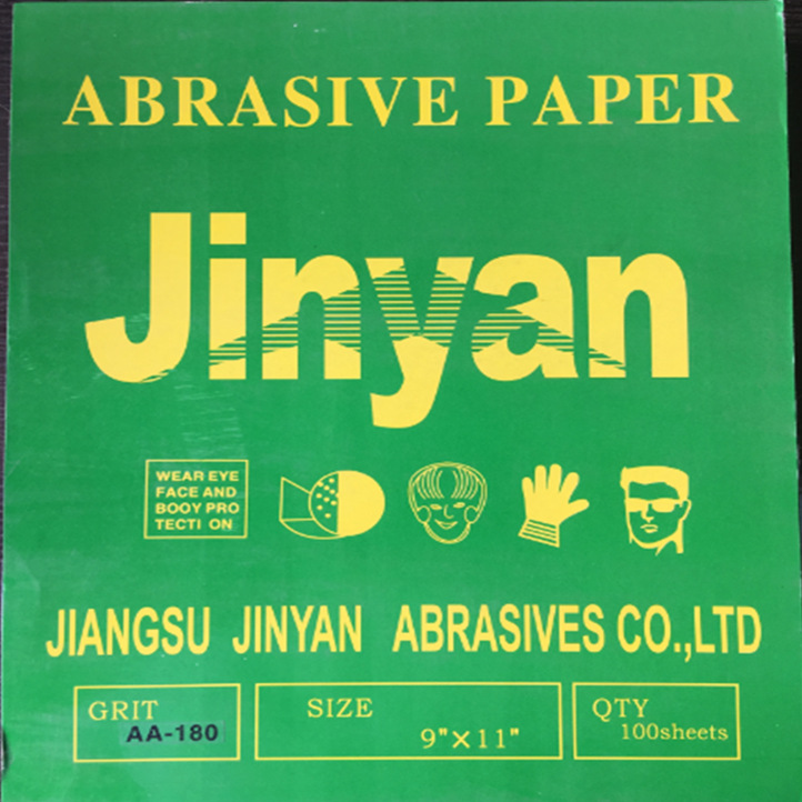 Goldyan Brand Dry Grinding Sandpaper Blue Paper Jinyan Brand Dry Sand Paint Sanitary Ware Woodworking Metal Curved Surface Polis