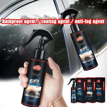 120ML Anti Fog Glass Cleaner Spray Glass Coating Agent Anti Rain Agent for Windshield Rear-View Mirror nano spray coating auto rearview mirror repellent agent car glass anti water front windshield nano anti rain agent with towel