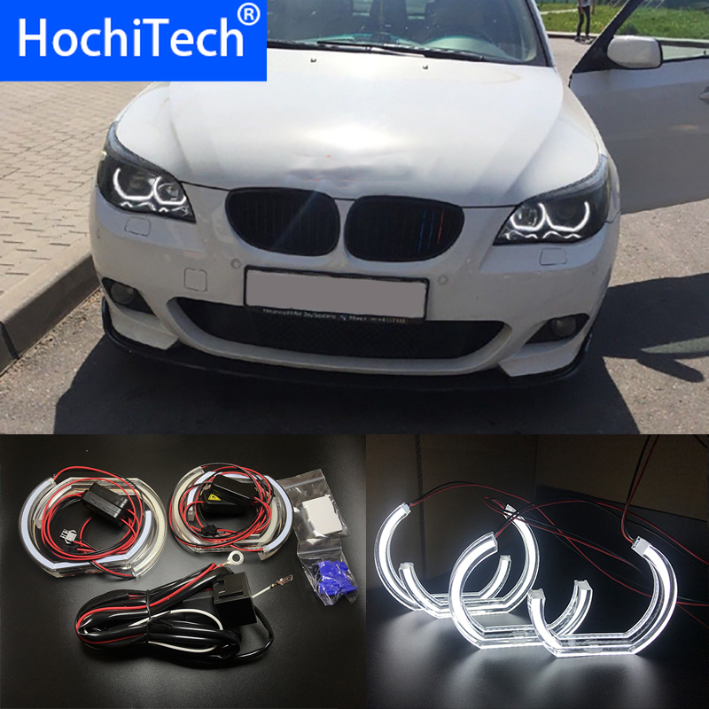White Crystal DTM Style LED Angel Eyes Halo Rings Light kits For <font><b>BMW</b></font> 5 SERIES <font><b>E60</b></font> E61 LCI M5 2007-2010 Xenon headlight image