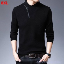 Big Size Men's Cashmere Sweaters Young and Middle-aged Men's Sweaters Extra-large Sweaters  Thick Men Winter men turtleneck