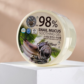 3W CLINIC 98% Snail Mucus Soothing Gel, 300 ml 4990979